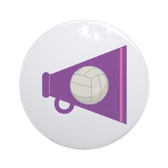 Volleyball Gift Megaphone Ornament (Round)