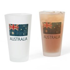 Vintage Australia Drinking Glass