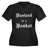 Bastard in a Basket Women's Plus Size V-Neck Dark