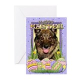 Easter Egg Cookies - Vallhund Greeting Cards (Pk o