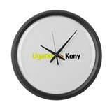 Uganga Greater Than Kony Large Wall Clock