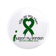 "With All My Heart Cerebral Palsy 3.5"" Button (100"