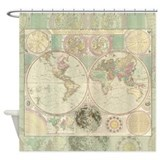 Bowles Antique Map Shower Curtain