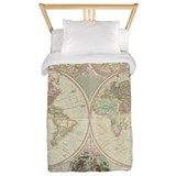 Bowles Antique Map Twin Duvet Cover
