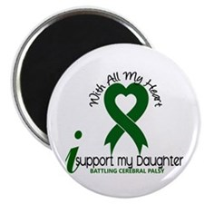 "With All My Heart Cerebral Palsy 2.25"" Magnet (100"