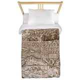 Gutierrez Antique Map Twin Duvet Cover