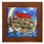 Noah's Ark Framed Tile