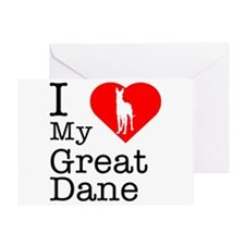 I Love My Great Dane Greeting Card