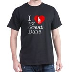I Love My Great Dane Dark T-Shirt