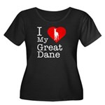 I Love My Great Dane Women's Plus Size Scoop Neck