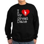 I Love My Great Dane Sweatshirt (dark)