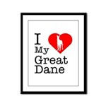 I Love My Great Dane Framed Panel Print