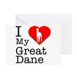 I Love My Great Dane Greeting Cards (Pk of 20)