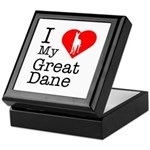 I Love My Great Dane Keepsake Box