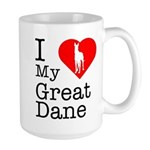 I Love My Great Dane Large Mug