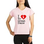 I Love My Great Dane Performance Dry T-Shirt