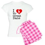 I Love My Great Dane Women's Light Pajamas