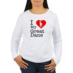 I Love My Great Dane Women's Long Sleeve T-Shirt