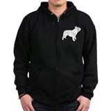 french bulldog Zipped Hoodie