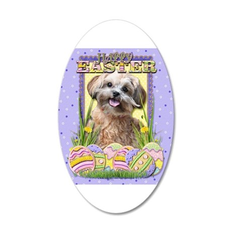 Easter Egg Cookies - ShihPoo 38.5 x 24.5 Oval Wall