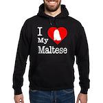I Love My Maltese Hoodie (dark)