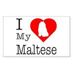 I Love My Maltese Sticker (Rectangle 10 pk)