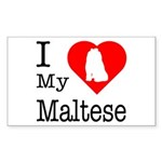 I Love My Maltese Sticker (Rectangle 50 pk)