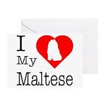 I Love My Maltese Greeting Card