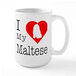 I Love My Maltese Large Mug