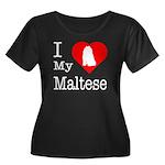 I Love My Maltese Women's Plus Size Scoop Neck Dar