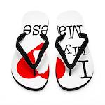I Love My Maltese Flip Flops
