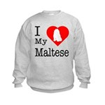 I Love My Maltese Kids Sweatshirt