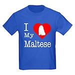 I Love My Maltese Kids Dark T-Shirt