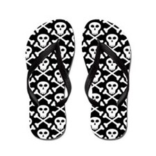 White And Black Flip Flops