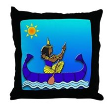 Isis in Blue & Gold #2 Throw Pillow