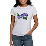 Blue Climbing Roses Women's T-Shirt