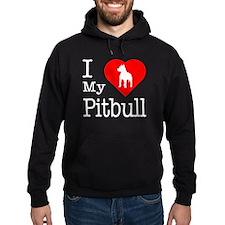 I Love My Pitbull Terrier Hoodie