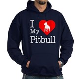 I Love My Pitbull Terrier Hoodie