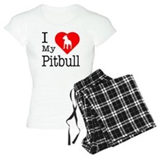 I Love My Pitbull Terrier Pajamas