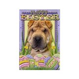 Easter Egg Cookies - Shar Pei Rectangle Magnet