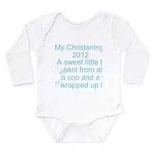 My Christening Day Long Sleeve Infant Bodysuit