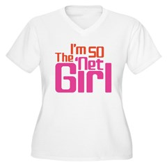 Net Girl Women's Plus Size V-Neck T-Shirt