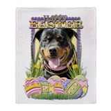 Easter Egg Cookies - Rottie Throw Blanket