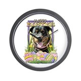 Easter Egg Cookies - Rottie Wall Clock