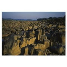 Eroded rocks in a river, Susquehanna River, Pennsy