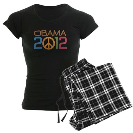 Obama Peace Sign Women's Dark Pajamas