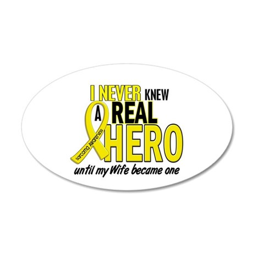 Real Hero Sarcoma 22x14 Oval Wall Peel
