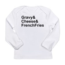 Poutine Ingredients Long Sleeve Infant T-Shirt