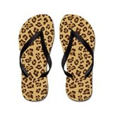 Cheetah Flip Flops