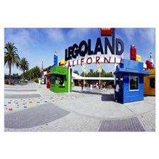 Entrance of an amusement park, Legoland, Californi